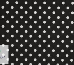 Woven Cotton Fabric - Black Dots