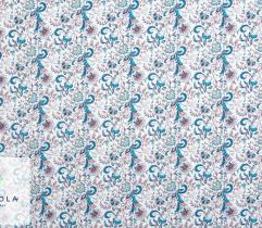 Woven Garden Fabric - Blue Ornament