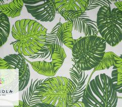 Woven Cotton Fabric - Green Leaves Jungle