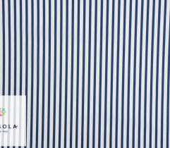Woven Cotton Fabric - Dark Blue Stripes