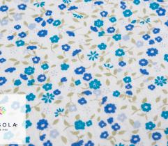 Woven Cotton Fabric - Blue Meadow