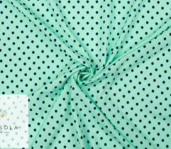 Tkanina Silki - Groszki Pistacja