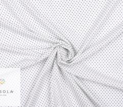 Tkanina Silki - Kropeczki na Białym