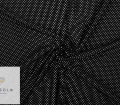 Tkanina Silki - Kropeczki na Czarnym