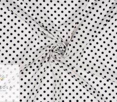 Tkanina Silki - Groszki na Białym