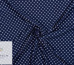 Tkanina Silki - Kropki na Granacie