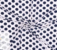 Tkanina Silki - Grochy na Białym