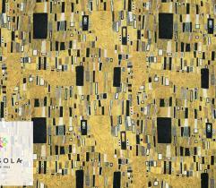 Tkanina Silki - Złota mozaika Gustaw Klimt