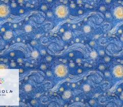 Tkanina Silki - Gwiaździsta Noc Vincent van Gogh
