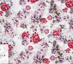 Tkanina Silki - Czerwone Róże