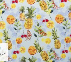 Tkanina Silki - Ananasy i Pomarańcze