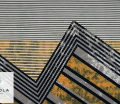 Dzianina Punto Geometryczne Pasy - Panel 80 cm