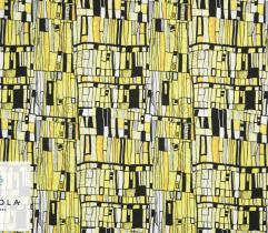 Tkanina Silki - Żółta Mozaika