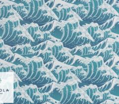 Tkanina Szyfon - Wielka Fala Hokusai