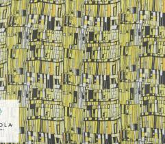 Tkanina Szyfon - Żółta Mozaika