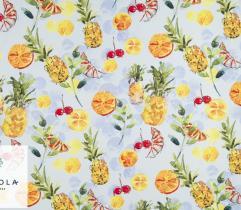 Tkanina Barbie - Ananasy i Pomarańcze