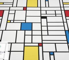 Tkanina Barbie - Neoplastycyzm Piet Mondrian