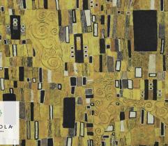 Tkanina Poliestrowa - Złota mozaika Gustaw Klimt