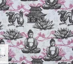 Tkanina Poliestrowa - Budda