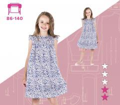 Sukienka dziecięca Alina - wydruk wielkoformatowy 86-140 Pinsola