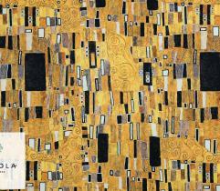 Dzianina Dresówka Pętelka - Złota Mozaika Klimt
