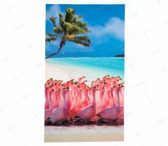 Panel - Jersey ITY Flamingi 49 x 84 cm