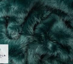 Sztuczne Futro włos 50 mm - Butelkowa Zieleń