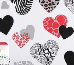 Tkanina bawełniana - Walentynki