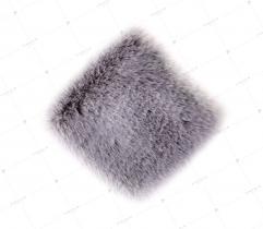 Sztuczne Futro włos 20 mm Szare 10x10 cm