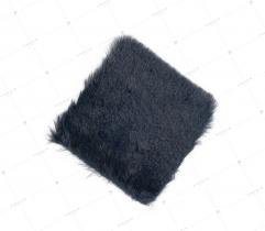 Sztuczne Futro włos 20 mm Granatowe 10x10 cm