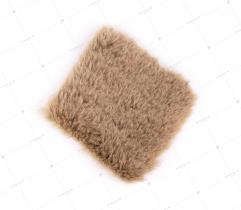 Sztuczne Futro włos 20 mm Jasny Brąz 10x10 cm