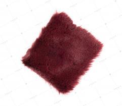 Sztuczne Futro włos 20 mm Bordowe 10x10 cm