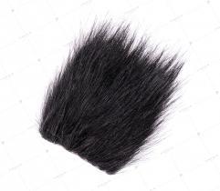 Sztuczne Futro włos 60/90 mm Czarne 10x10 cm