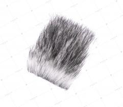 Sztuczne Futro włos 70 mm Białe z Czarnym 10x10 cm
