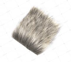 Sztuczne Futro włos 60/90 mm Brąz z Jasnym Beżem 10x10 cm