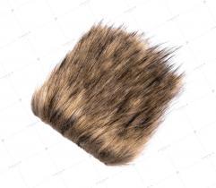 Sztuczne Futro włos 50/90 mm Brązowe z Beżem 10x10 cm
