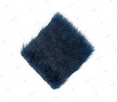 Sztuczne Futro włos 25/37 mm Navy 10x10 cm