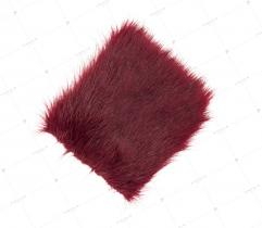 Sztuczne Futro włos 25/37 mm Burgund 10x10 cm