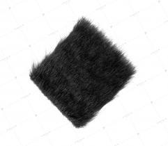 Sztuczne Futro włos 25/37 mm Czarne 10x10 cm