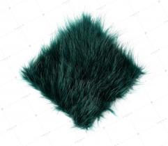 Sztuczne Futro włos 50 mm Butelkowa Zieleń 10x10 cm