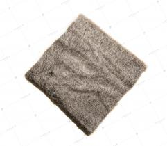 Sztuczne Futro włos 13 mm Brązowy Melanż 10x10 cm