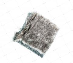 Sztuczne Futro włos 28/30 mm Szary Melanż 10x10 cm