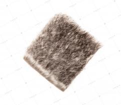 Sztuczne Futro włos 28/30 mm Beżowy Melanż 10x10 cm