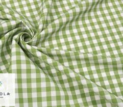 Tkanina Obrusowa - Krata Zielona