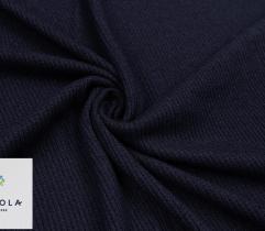 Pullover Strickstoff Gerippt 95 cm - Marineblau