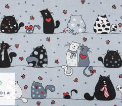 Tkanina bawełniana - Pościelowe Koty