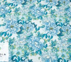 Tkanina Barbie - Kwiaty na Błękicie