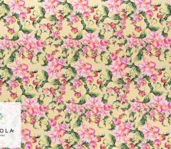 Tkanina Barbie - Kwiaty Lato