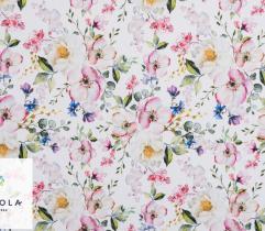 Tkanina Barbie - Kolorowe Kwiaty Jabłoni