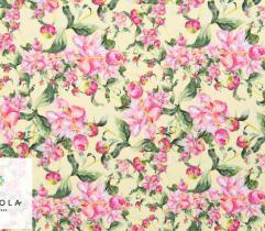 Tkanina Silki - Kwiaty Lato